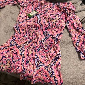 S NWT Lilly Pulitzer Lana Romper- Can't Resist